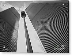 Wtc, 1982 Acrylic Print by Marc Nader