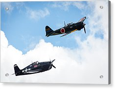 Ww II Dogfight Acrylic Print by Brian Knott Photography
