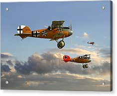 Ww1 - Fighting Colours 3 Acrylic Print by Pat Speirs