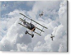 Ww1 - Fokker Dr1 - Predator Acrylic Print by Pat Speirs
