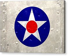 Acrylic Print featuring the digital art Ww2 Army Air Corp Insignia by John Wills