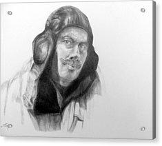 Ww2 Aviator Acrylic Print by Susan Tilley
