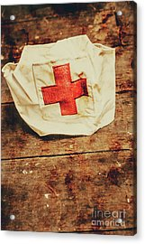 Ww2 Nurse Hat. Army Medical Corps Acrylic Print by Jorgo Photography - Wall Art Gallery