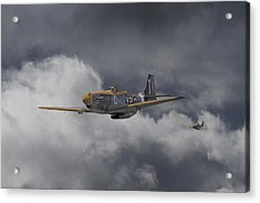Ww2 - P-51 - I Think We-re Lost Acrylic Print
