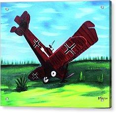 Wwi-biplane Acrylic Print by Dean Glorso