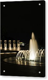 Acrylic Print featuring the photograph Wwii Memorial Fountain by Angela DeFrias