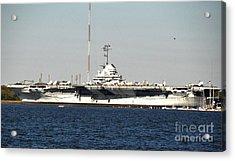 Wwii Aircraft Carrier Uss Yorktown Acrylic Print