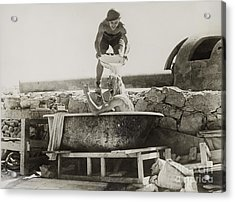 Wwii, Washing Off The War, 1940s Acrylic Print