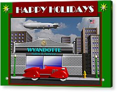 Wyandotte Happy Holidays Acrylic Print by Stuart Swartz