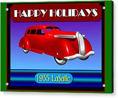 Acrylic Print featuring the digital art Wyandotte Lasalle Happy Holidays by Stuart Swartz