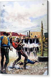 Wyatt Earp And The Battle Of The Ok Corral Acrylic Print