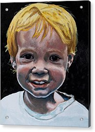 Acrylic Print featuring the painting Wyatt by Jean Haynes