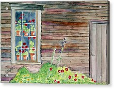 Wyeth House In Tempera Paint Acrylic Print by Larry Wright