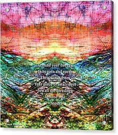 Acrylic Print featuring the photograph Ground Your Energy by Atousa Raissyan