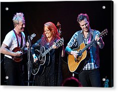 Wynonna Judd In Concert With Hubby Cactus Moser And Band Guitarist Acrylic Print