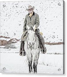 Wyoming Cowboy Acrylic Print