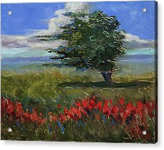 Acrylic Print featuring the painting Wyoming Gentle Breeze by Billie Colson