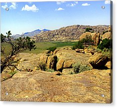 Wyoming Landscape Acrylic Print by Marty Koch