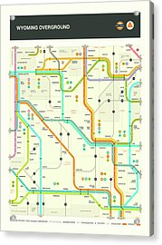 Wyoming Map Acrylic Print
