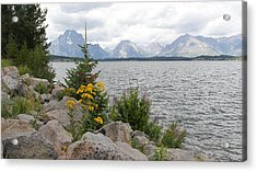 Wyoming Mountains Acrylic Print