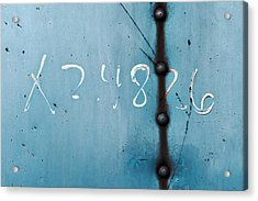 X 2.4826 ...slate Blue Acrylic Print