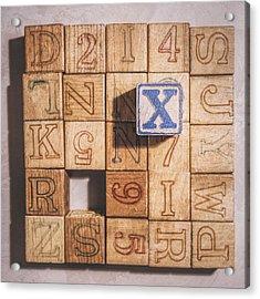 X Blocks Acrylic Print