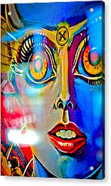 X Is For Xenon - Pinball Acrylic Print by Colleen Kammerer