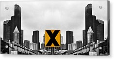 X Marks The Middle Acrylic Print by Pelo Blanco Photo