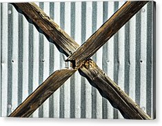 Acrylic Print featuring the photograph X Marks The Spot by Karol Livote