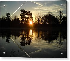 X Marks The Spot Sunrise Reflection Acrylic Print