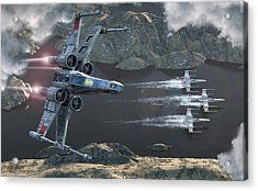 X-wing Along The River Acrylic Print
