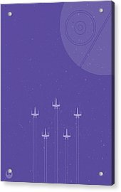 X-wing Attack Acrylic Print