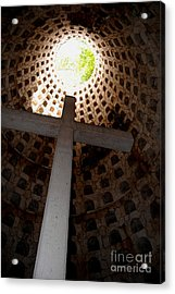 Xcaret Cemetery Catacomb Acrylic Print by Angela Murray