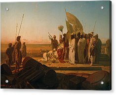 Xerxes At The Hellespont Acrylic Print by Jean Adrien Guignet