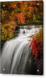 Acrylic Print featuring the photograph Fall At Minnehaha Falls by Patti Deters
