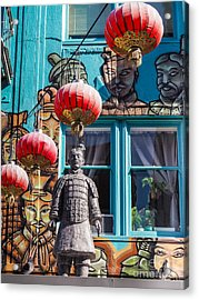 Xian Soldier With Graffiti Acrylic Print
