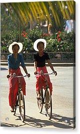 Xishuangbanna Cyclists Acrylic Print