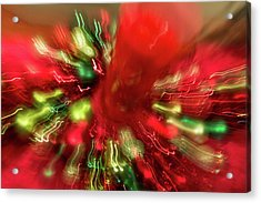Acrylic Print featuring the photograph Xmas Burst 2 by Rebecca Cozart