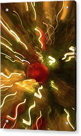 Acrylic Print featuring the photograph Xmas Burst 3 by Rebecca Cozart