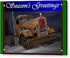 Acrylic Print featuring the digital art Xmas Pete Card by Stuart Swartz