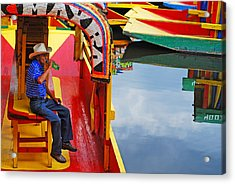 Acrylic Print featuring the photograph Xochimilco by Skip Hunt