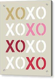 Xoxo- Art By Linda Woods Acrylic Print by Linda Woods