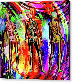 Bones Acrylic Print by Joseph Mosley