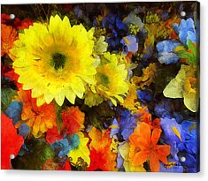 Xtreme Floral Seventeen Into The Depths Acrylic Print