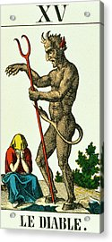 Xv The Devil   Tarot Card Acrylic Print