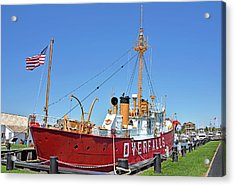 Acrylic Print featuring the photograph Lightship Overfalls Lewes Delaware by Brendan Reals
