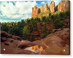 Reflection At Seven Sacred Pools Acrylic Print