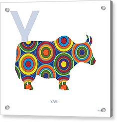 Y Is For Yak Acrylic Print