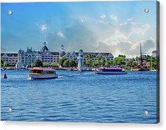Yacht And Beach Club Walt Disney World Acrylic Print by Thomas Woolworth