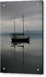 Yacht At Silent Moorings Acrylic Print